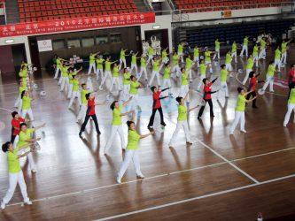 84人表演「北京体育大学体育館」
