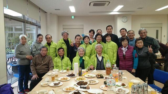 大田区日中 帰国者等とともに花見の会開催