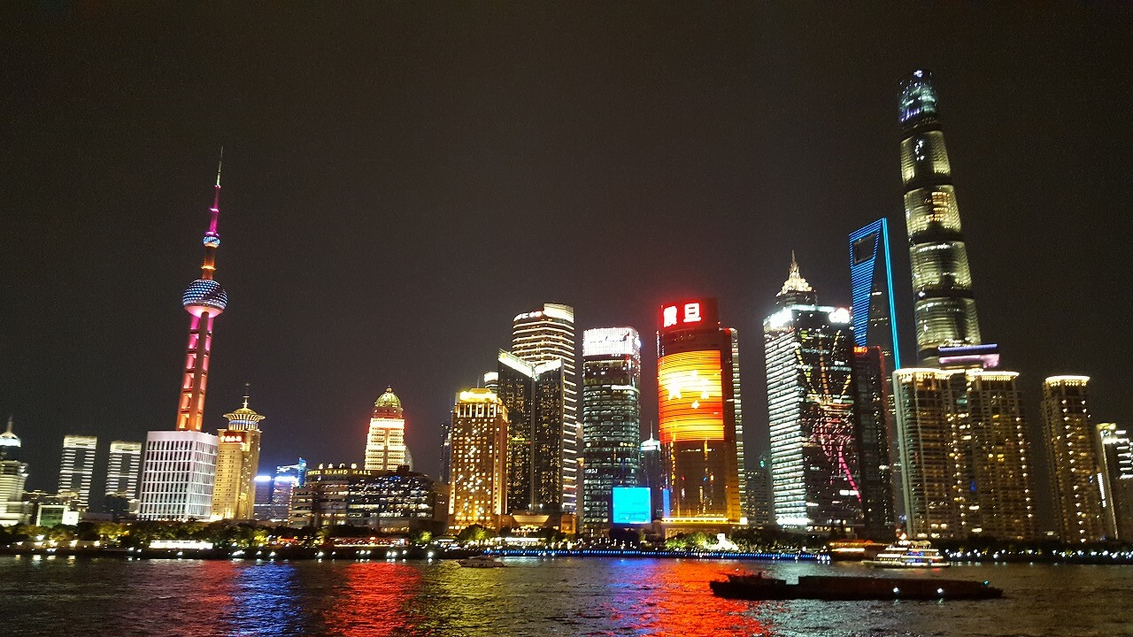 写真:2019年 中国・上海 外灘からの夜景 筆者撮影